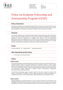 Policy on Graduate Fellowship and Assistantship Program  (1541 2)