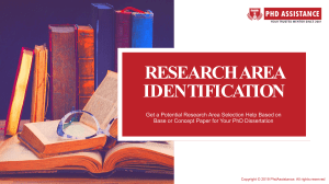 PhD Research Area Identification Services - phdassistance.com