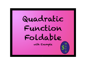 QuadraticFunctionFoldable