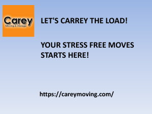 Carey Moving & Storage ppt.1