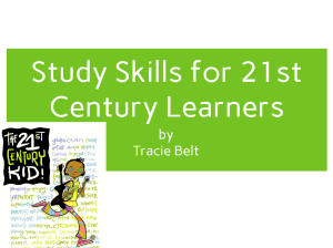 study skills for 21st century learners.ppt