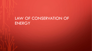 Law of Conservation of Energy PPTX