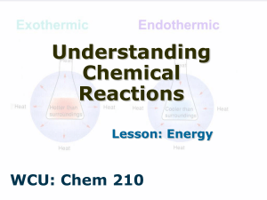 Exo and endothermic reactions PPT