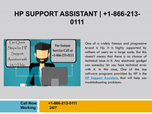 HP Support Assistant | Get 24/7 Support at +1-866-231-0111