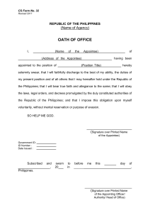 cs form no. 32 oath of office 2