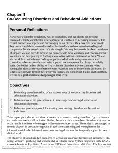 Learning the Language of Addiction Counseling ---- (Chapter 4 Co-Occurring Disorders and Behavioral Addictions)