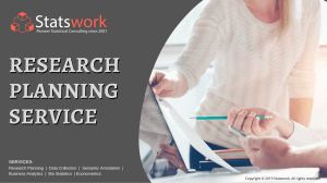 Research Planning Services  Research Planning help  Data Analysis Services – Statswork