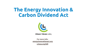 Energy Innovation & Carbon Dividend Powerpoint Slides