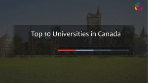 Top 10 Universities  in Canada