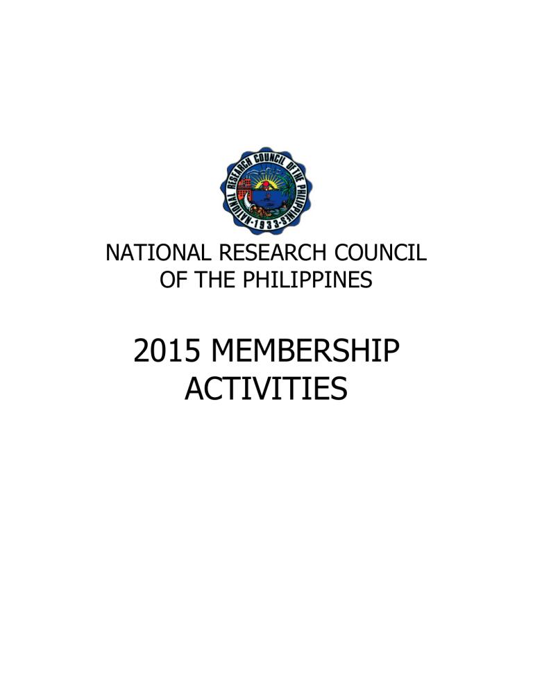 Membersactivities 2015