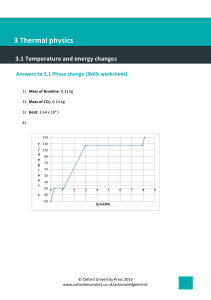 3.1 Phase change answers