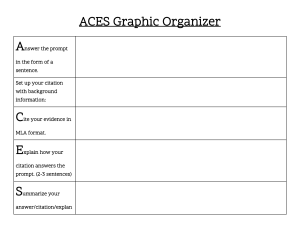 ACES Graphic Organizer