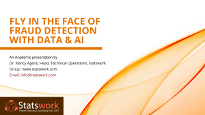 Fly In The Face Of Fraud Detection With Data Analytics & AI - Stastwork