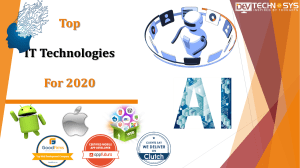 Top IT Technologies For 2020