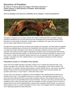 1.2 Dynamics of Predation