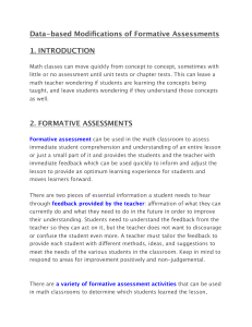 Data-based Modifications of Formative Assessments