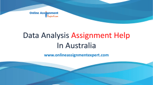 Data Analysis Assignment Help by Experts
