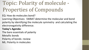 Polarity of  Bonds  Molecules