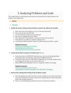 Analyzing Problems and Goals