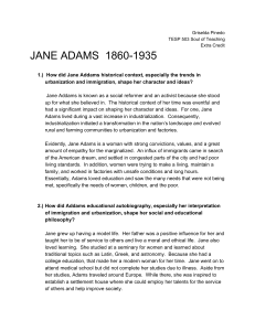 Educational Philosophers: Jane Addams