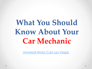 What You Should Know About Your Car Mechanic