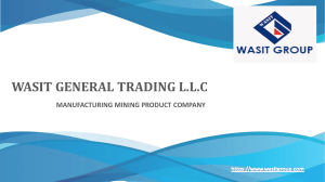 Gypsum powder manufacturer company in Dubai – Wasit Group