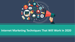 Internet Marketing Techniques That Will Work In 2020