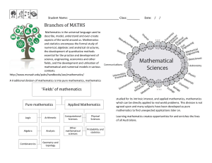 Branches of Maths puzzle landscape