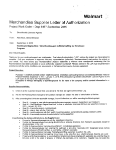 Walmart Authorization Letter