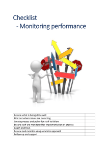 Checklist Monitor performance