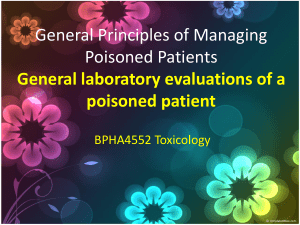 BPHA4552 General Principles of Managing Poisoned Patients
