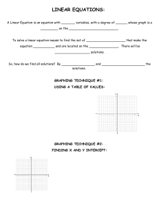 algebra - linear equations