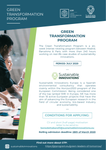 Green Transformation Program July 2020