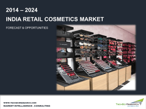India Retail Cosmetics Market Size, Share, Growth and Forecast by 2024