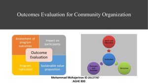 Outcomes Evaluation for Community Organization