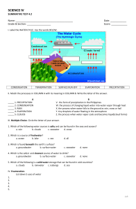 Water Cycle Quiz by Sheenalyn Briones