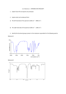 2.2.3 exercise 1 - infrared spectroscopy
