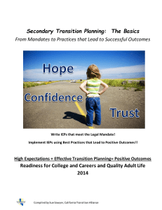 The Basics of Transition Planning (IEP)