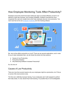 How Employee Monitoring Tools Affect Productivity