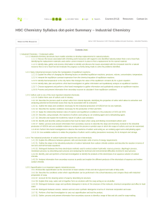 notes industrial chemistry