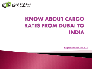 Know About Cargo Rates from Dubai to India