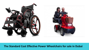 The Standard Cost Effective Power Wheelchairs for sale in Dubai