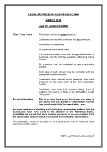 Law of Associations Past Paper March 2010