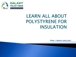 LEARN ALL ABOUT POLYSTYRENE FOR INSULATION