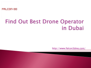 Find Out Best Drone Operator in Dubai