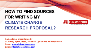 How To Find Sources For Writing My Climate Change Research Proposal? - Phdassistance.com