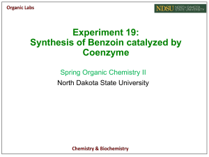 Coenzyme synthesis of benzoin-Final