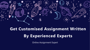 Get Customised Assignment Written By Experienced Experts