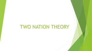 1 TWO NATION THEORY
