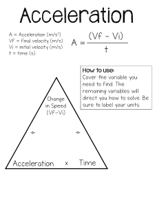 Acceleration Practice Problems